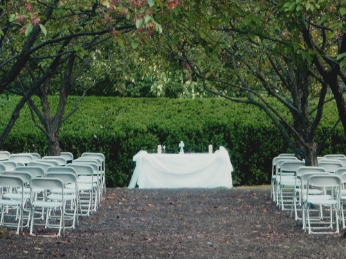 Ceremony in Frick Orchard - Curci-Kramer Wedding